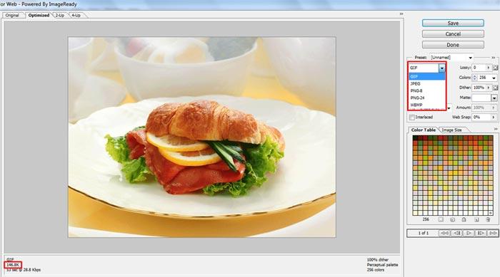 tips save image agar web cepat