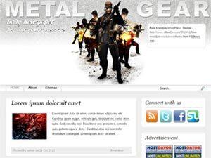metal gear wordpress theme