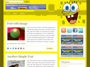 Spongebob wordpress theme