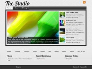The Studio wordpress theme