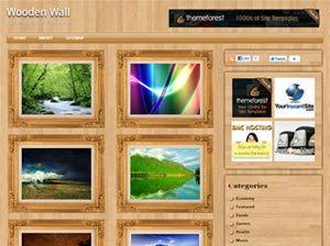 wooden wall wordpress theme