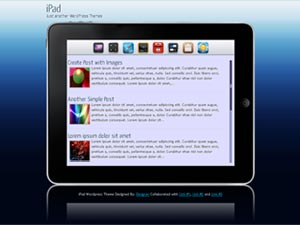 ipad wordpress theme